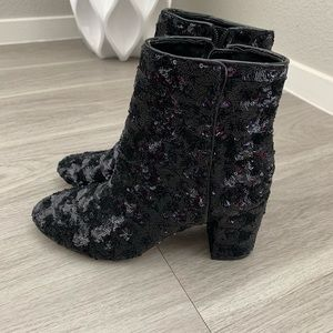 INC Georgiee Sequins Booties